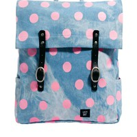 Lazy Oaf Bad Skin Polka Dot Square Backpack