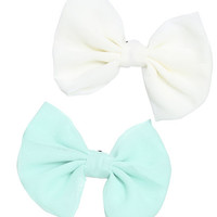 2 On Chiffon Bow Clips | Shop Accessories at Wet Seal