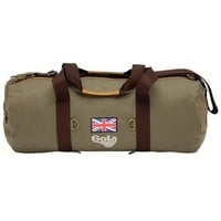 Vintage Style Washed Khaki Finney Canvas Barrel Bag From Gola : TruffleShuffle.com