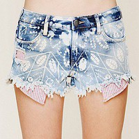 Free People  Shibori Print Cutoffs at Free People Clothing Boutique