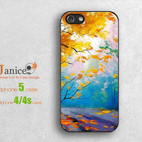 Autumn tree  printing  iphone 4 /5 cases, iphone 4s cases ,iphone 4 cases,  iphone 5 protector ,unique design B0057