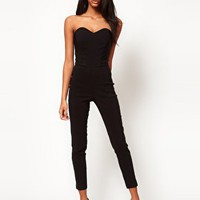ASOS Colourblock Contour Jumpsuit at asos.com