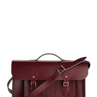 Cambridge Satchel Upwardly Mobile Satchel in Oxblood - 15"