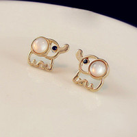 amazinglife  Cute Elephant Studs
