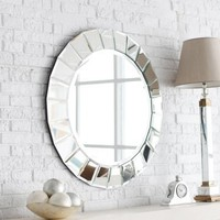 Fortune Venetian Mirror - 34 diam. in. - Wall Mirrors at Hayneedle