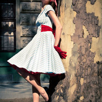 Rockabilly Striped Dress by Ticci