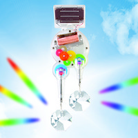 Kikkerland Design Inc   » Products  » Solar Powered RainbowMaker Double Swarovski Crystal