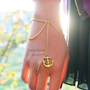Gold (or Silver) Anchor Slave Bracelet