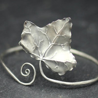 Ivy Leaf Bracelet, a unique hand made sterling silver ivy bangle