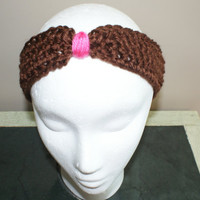 Womens Fashion Hairband, Turban Headband, Brown Headband, Spa Headband, Knot Headband, Yoga Hairband, Workout Headband