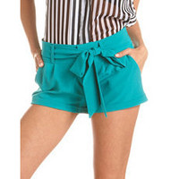 Tie-Waist Woven Short: Charlotte Russe