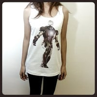 Ironman 3 Iron Man DC Comic Hero The Avengers Women Sleeveless Tank Top Tanktop Tshirt T Shirt S,M,L