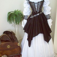 Pirate Renaissance Gown Costume Dress Wedding Wench Steampunk Gothic | scalarags - Clothing on ArtFire