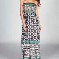 ANGIE Geo Scarf Maxi Dress