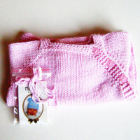 Baby sweater knitting. Bamboo newborn sweater. Pale pink baby sweater, newborn gift, very soft. Puerperium Cardigan.