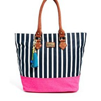 Paul's Boutique Striped Tote at asos.com
