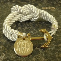 Monogrammed Nautical Bracelet | Anchor Gifts | Marley Lilly