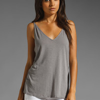 Michael Stars Luxe Slub V Neck Cami in Galvanized from REVOLVEclothing.com