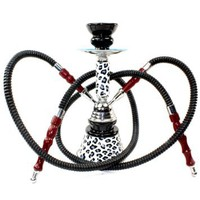 "Never Exhale 11"" Premium 2 Hose Hookah Shisha Complete Set - Cheetah Leopard Tiger Animal Skin Art - Choose Your Beast (White Snow Leopard): Health & Personal Care"