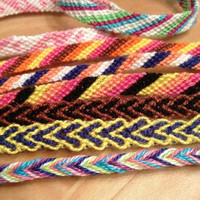 Handcrafted friendship bracelets