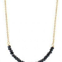 Gold Vermeil & Black Beaded Necklace | Afer Midnight Necklace