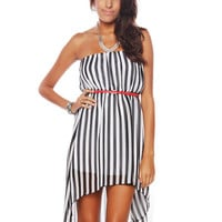 Papaya Clothing Online :: STRIPED HIGH-LOW DRESS