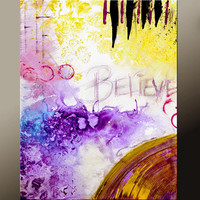 11x14 Abstract Art Print Contemporary Modern Fine Art Print  - by Destiny Womack  - dWo - Belive
