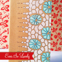 OOAK Modern Blue and White Patterned Notebook by EverSoLovely