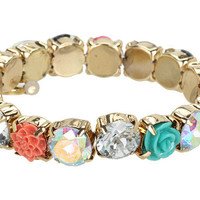 Betsey Johnson Resin Flower Stretch Bracelet