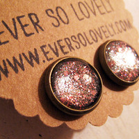pink and gray sparkly metallic handmade nickel by EverSoLovely