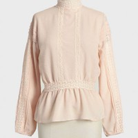 high tea lace detail blouse at ShopRuche.com