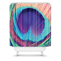 DENY Designs Home Accessories | Shannon Clark Pretty Peacock Shower Curtain
