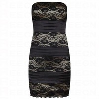 Bqueen Lace Strapless Dress 391H - Celebrity Dresses - Apparel