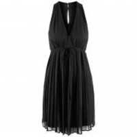 Bqueen Knee-length Sleeveless Chiffon Black Dress BY058H - Designer Shoes|Bqueenshoes.com