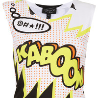 Kaboom Crop Tee - Urban Education - Collections - Topshop USA