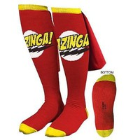 Big Bang Theory Bazinga Cape Socks Red