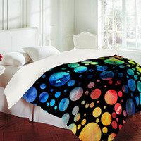 DENY Designs Home Accessories | Madart Inc. Polka Dots Black Duvet Cover