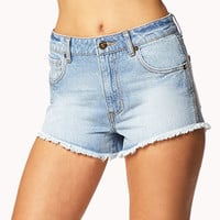 Frayed Denim Cut-Offs | FOREVER 21 - 2048414671