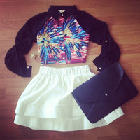 So Fine White Skirt - Furor Moda - Tops - Dresses - Jackets - Vintage