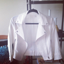 White Linen Moto Jacket - Furor Moda - Tops - Dresses - Jackets - Vintage