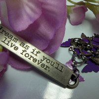 Motivating Butterfly Keychain With Inspirational Statement Great For Yoga Chakra Keychain