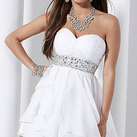 Short Strapless Chiffon Dress 27737