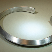 Sterling silver cuff bracelet with ultra modern triangular design
