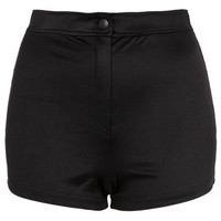 Shiny High Waist Shorts - Shorts  - Clothing
