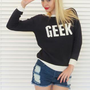 Jumper Sweater Varsity GEEK Navy