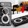 Vintage Camera Rolleicord for iPhone 4 / 4s Black case