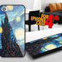 Van Gogh Starry Nights for iPhone 4 / 4s Black case