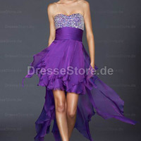 Chiffon Trgerlos A-Linie CocktailKleid mit Kristall at dressestore.de from Edressy