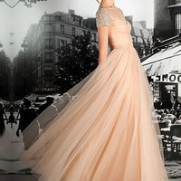 Formal Dresses 2013   A-line Straps Floor-length Tulle Evening Dress at Msdressy.com