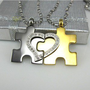 romefashion — Puzzles heart lovers necklace